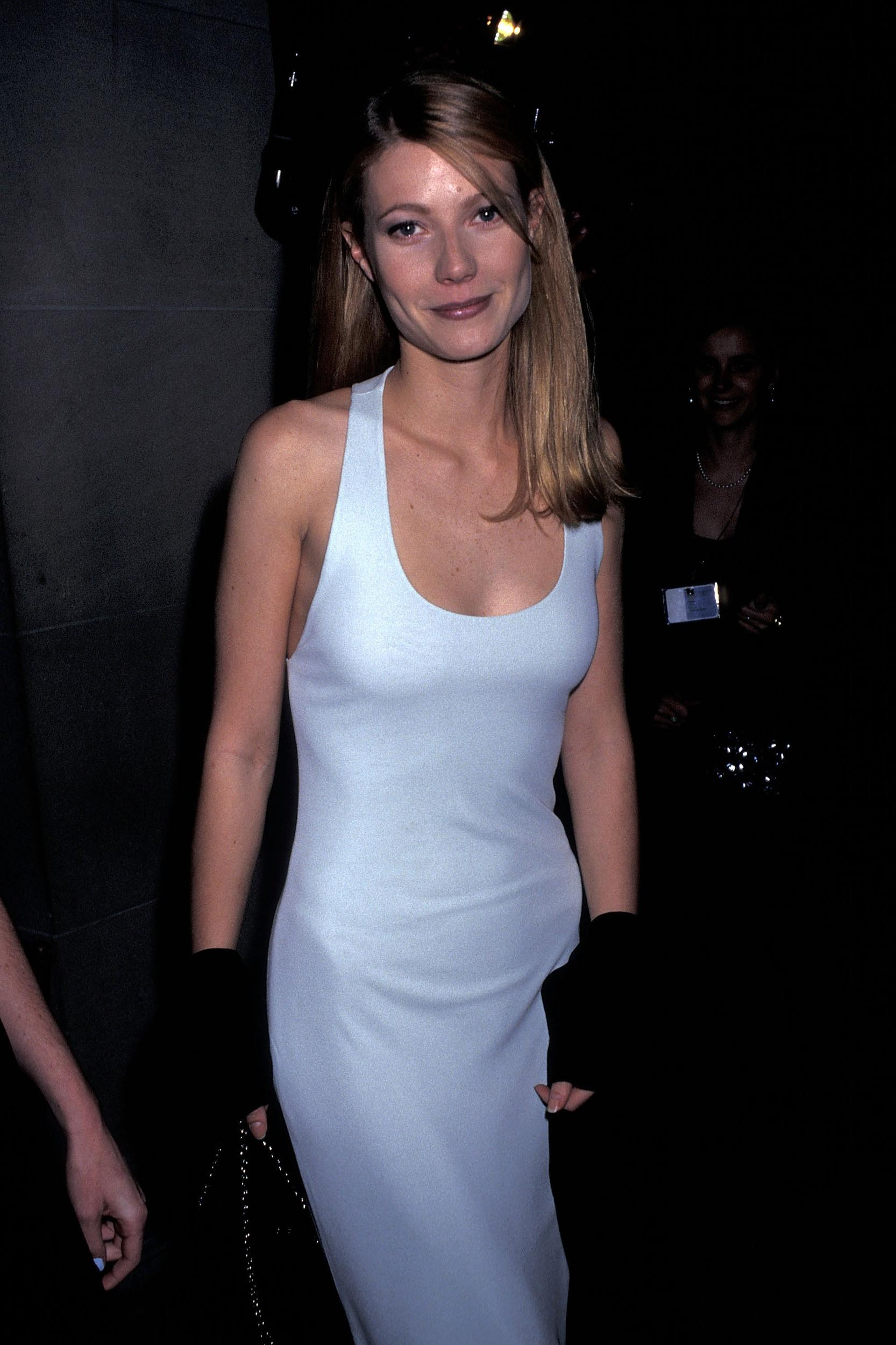 Actress Gwyneth Paltrow attends The Metropolitan Museum's Costume Institute Gala Exhibiton of 'Haute Couture' on December 4, 1995 at The Metropolitan Museum of Art in New York City.