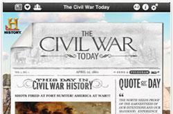 The Civil War Today app brings four years of daily history updates to your iPad