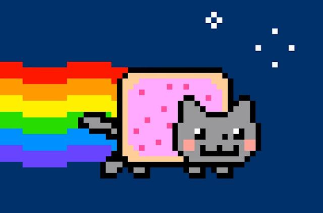Remastered 'nyan cat' art sells for the equivalent of $605k