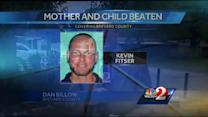 Man sought in beating of mother and child