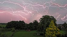 Stormwatcher's amazing composite image captures two hours of lightning strikes in one shot