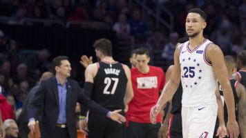 Ben Simmons and Jusuf Nurkic begin NBA's newest beef at the free throw line