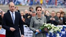 Duke and Duchess of Cambridge pay respects to Leicester helicopter crash victims
