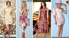 Jen Hawkins and Megan Gale lead floral trend at Oaks Day
