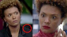 """""""Barata"""" pousa no ombro de Lidi e vira protagonista de """"treta"""" em 'A Fazenda'"""