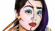 Halloween Beauty Tutorial: Pop Art