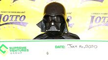 Guy In Darth Vader Costume Collects Lottery Jackpot, Thanks His Lucky Stars