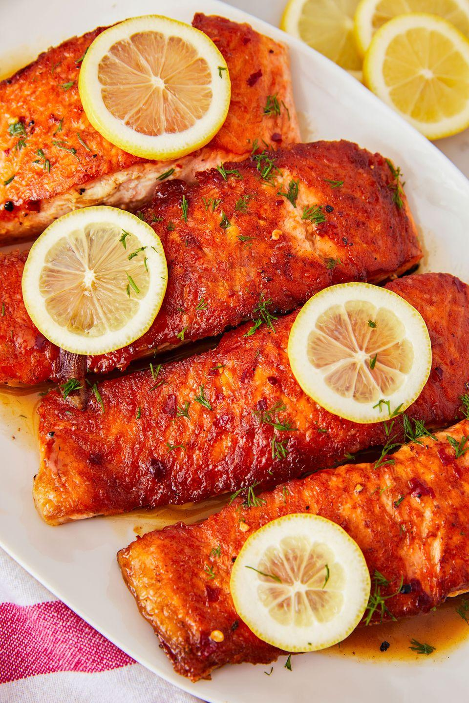 """<p>Perfect salmon, every single time. </p><p>Get the recipe from <a href=""""https://www.delish.com/cooking/recipe-ideas/a23570664/pan-fried-salmon/"""" rel=""""nofollow noopener"""" target=""""_blank"""" data-ylk=""""slk:Delish"""" class=""""link rapid-noclick-resp"""">Delish</a>. </p>"""