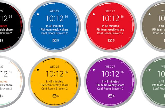Microsoft Outlook has an Android Wear watch face