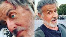Sylvester Stallone assusta fãs com réplica idêntica da sua cabeça no set