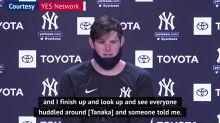 Yankees players shaken after Tanaka head injury