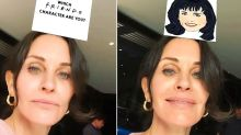 Courteney Cox Gets Herself in Viral Friends Instagram Filter: 'Finally Got Monica!'