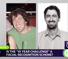"Is the ""10 year challenge"" a facial recognition scheme?"