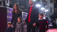 Prince William, Kate Middleton and kids dress in holiday finest for evening out