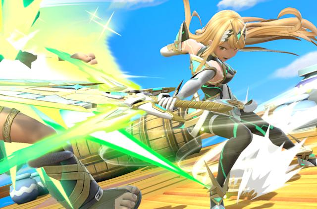 Xenoblade's Pyra and Mythra join the 'Smash Bros. Ultimate' roster today
