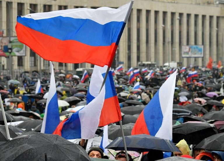 Moscow has accused foreign governments and media of backing the protests (AFP Photo/Yuri KADOBNOV)