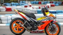 Malaysian Modifier GTB Adds Honda Repsol MotoGP Motorcycle Livery to RS150R Scooter