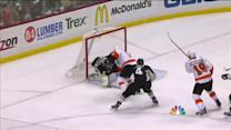 Simmonds pokes home his second of the game