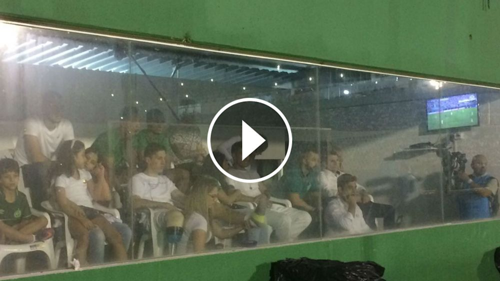 VIDEO: Así festejaron los sobrevivientes el gol de Chapecoense