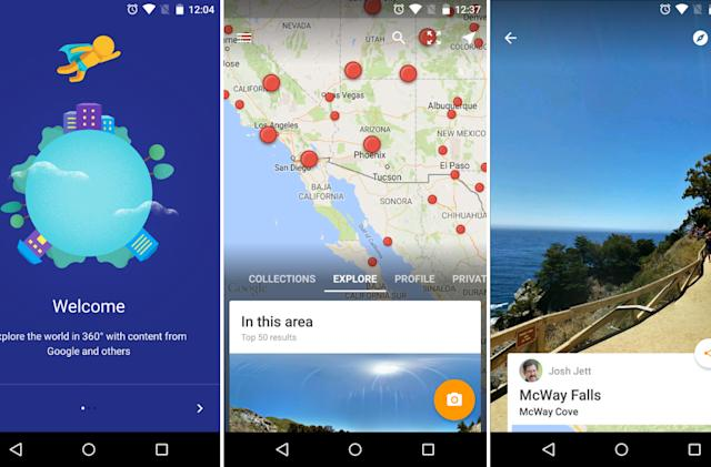 Google's new Street View app lets you add your own spherical photos