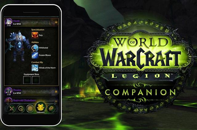 Blizzard launches new 'World of Warcraft: Legion' companion app
