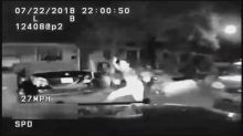 Dashcam shows police car slam into teen