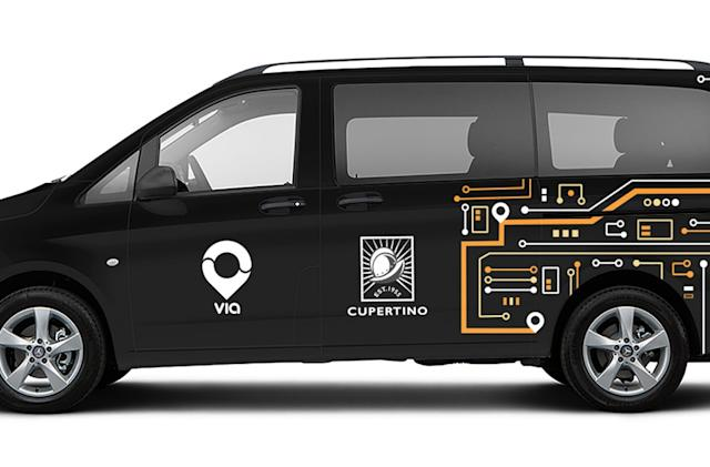 Via's on-demand van service comes to Apple's backyard