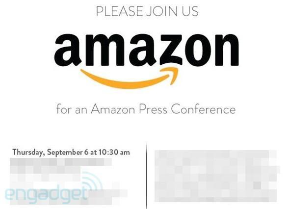 Amazon throwing press conference September 6th