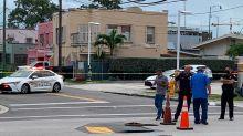 A sinkhole near the Miami Marlins field has closed part of a major Little Havana street