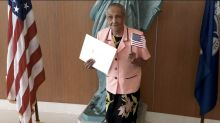 Loved ones can't wait to bring 103-year-old 'to the polls for the first time' after she is granted U.S. citizenship