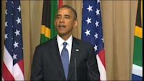 President Obama meets privately with Mandela family