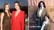 Catherine Zeta-Jones and lookalike teenage daughter pose for Vanity Fair cover