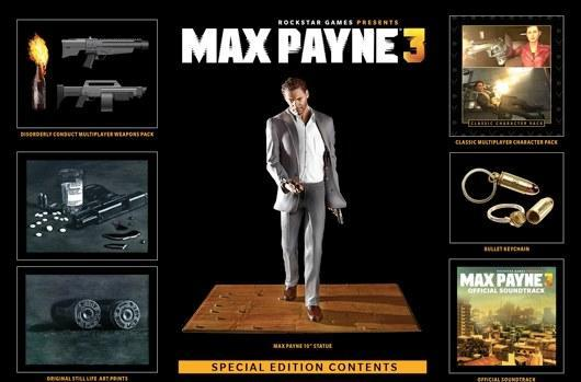 Max Payne 3 gets $100 Special Edition, pre-order only until January 15