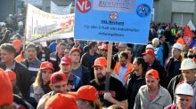 ThyssenKrupp steelworkers protest against Tata tie-up
