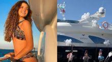 Filha de Susana Werner comemora os 15 anos com festa no barco em Portugal