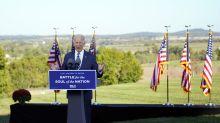 Biden harnesses history to describe urgency of 2020 campaign