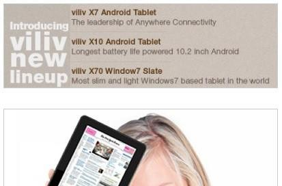 Viliv to debut Android-based X7, X10, Windows 7-based X70 tablets at CES