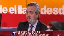 En 2012. La indignación de Alberto Fernández cuando en el gobierno de Cristina Kirchner no lo dejaban ahorrar en dólares