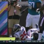 Bortles fumbles again rushing for first down