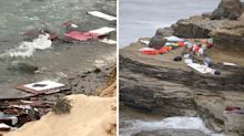 Chaos on beach as three people killed after boat rips into pieces