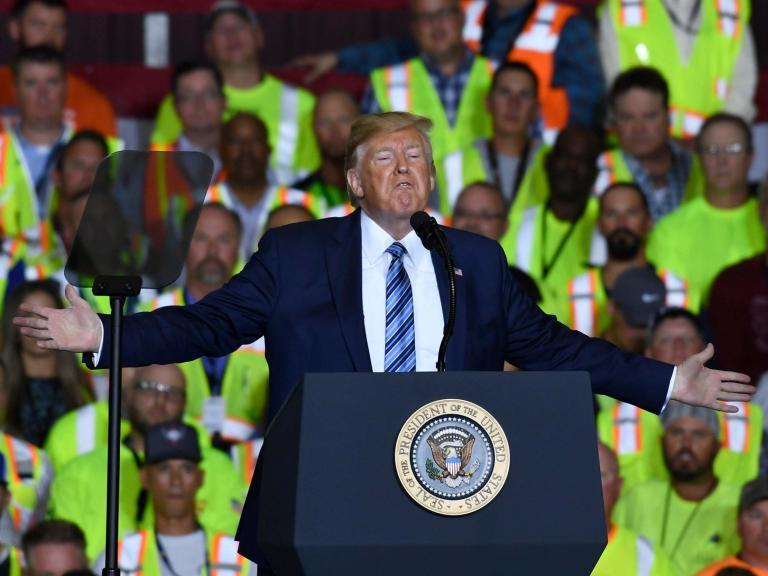 Trump news - live: President jokes about serving third term, rambles ignorantly about wind power and defends baseless Epstein conspiracy theory