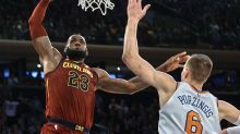LeBron James reminds Kristaps Porzingis and the Knicks what a true superstar is