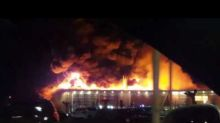 Shopping Center in Northeast Italy Destroyed in Blaze