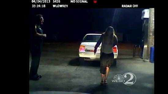 Dashcam video: Woman fails sobriety test