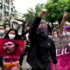 Myanmar protesters mark birthday of Che Guevara