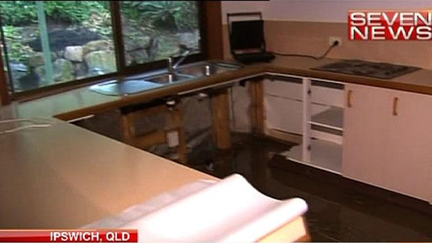 Burst water main floods homes again