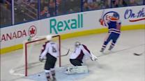 Jordan Eberle scores off the dish from Smyth