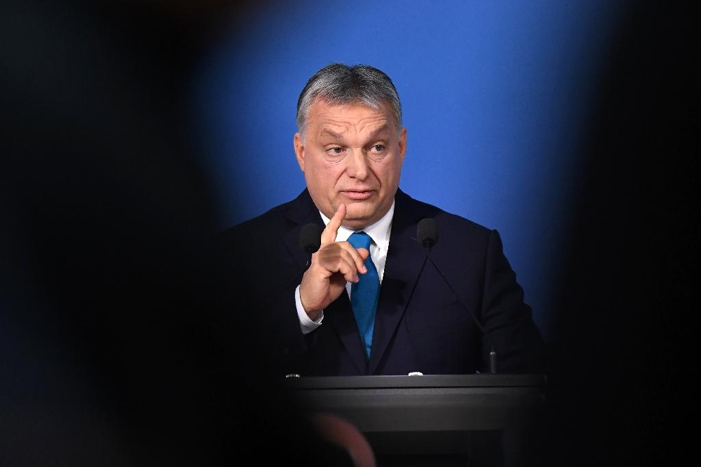 Hungarian Prime Minister Viktor Orban speaks during a press conference in January 2019