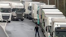 Brexit: Lorries queue for 20 miles in Kent amid warnings of no-deal stockpiling