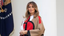 Melania Trump helps pardon a Thanksgiving turkey wearing a coat Twitter thinks is 'ridiculous'